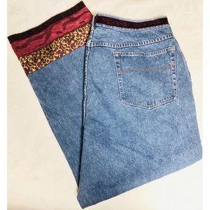 Venezia jeans with brocade, sequin, velvet trim